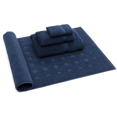 Toscano 4 Piece Towel Set Color: Navy