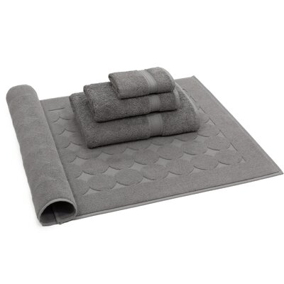 Toscano 4 Piece Towel Set Color: Dark Gray
