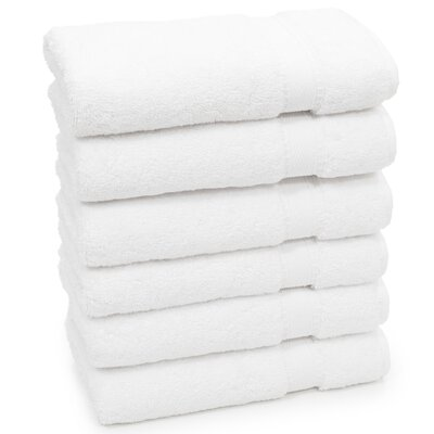 Toscano Hand Towel Color: White