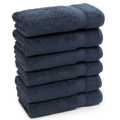 Toscano Hand Towel Color: Navy