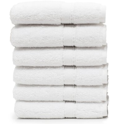 Toscano Washcloth Color: White