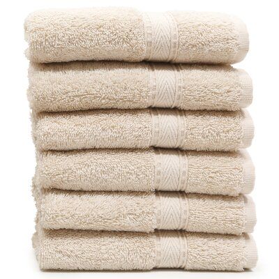 Toscano Washcloth Color: Beige