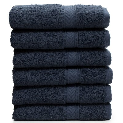 Toscano Washcloth Color: Navy
