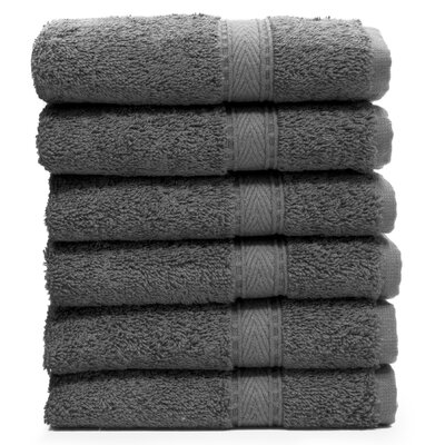 Toscano Washcloth Color: Dark Gray