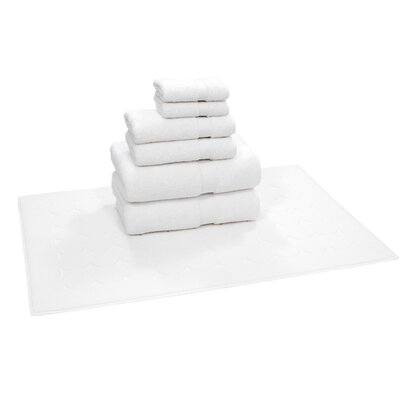 Toscano 7 Piece Towel Set Color: White
