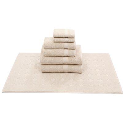 Toscano 7 Piece Towel Set Color: Beige