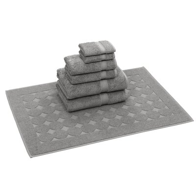Toscano 7 Piece Towel Set Color: Dark Gray