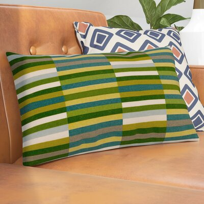 Jamaal Side Step Cotton Lumbar Pillow Color: Marine