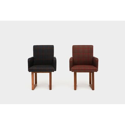 Wood Houndstooth Armchair Upholstery: Peacock
