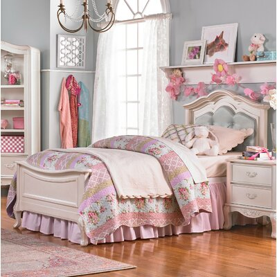 Angelina Panel Bed Size: Full, Color: Pearl