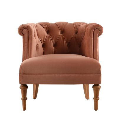 Constantine Tufted Chair Upholstery: Orange