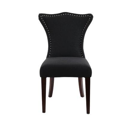 Auston Parson Chair Upholstery: Jet Black