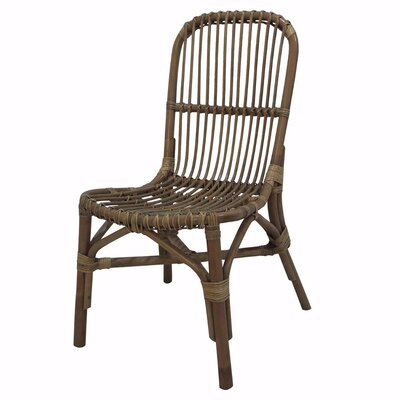 Skeens Elegantly Charmed Rattan Pole Side Chair