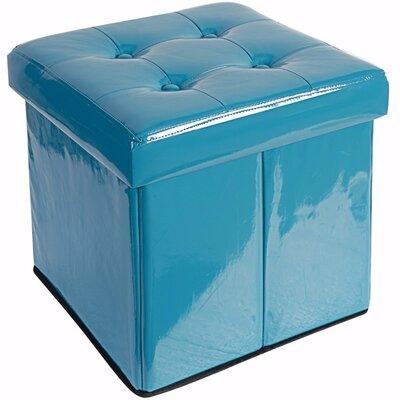 Woody Folding Storage Ottoman Upholstery: Blue