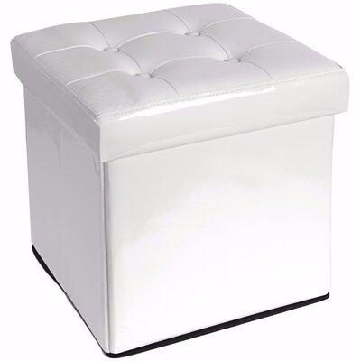 Woody Folding Storage Ottoman Upholstery: White