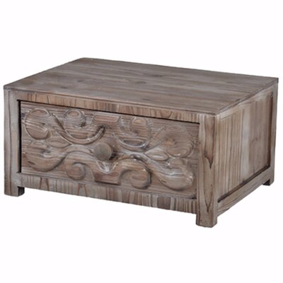 "Burkettsville Fir Wood Tabletop 12"" W Storage Drawer 0BF9238475A84E3D8DDB382A1A6B10D6"