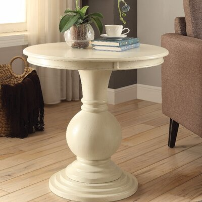 Hagedorn End Table Table Top Color: White