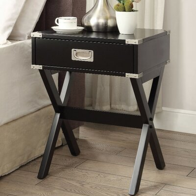 Battista End Table Table Top Color: Black