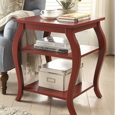 Fosdick End Table Table Top Color: Red
