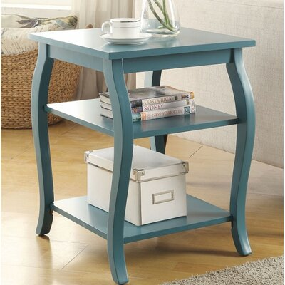 Fosdick End Table Table Top Color: Teal