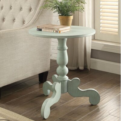 Jansen Antique Slate End Table Table Top Color: Green