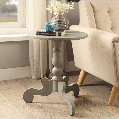 Jansen Antique Slate End Table Table Top Color: Gray