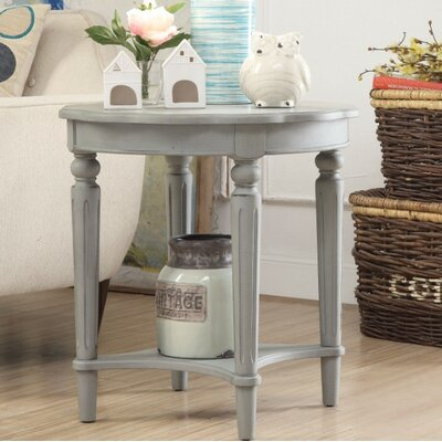 Jantz Antique End Table Table Top Color: Gray