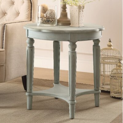 Jantz Antique End Table Table Top Color: Green