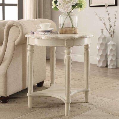 Jantz Antique End Table Table Top Color: White