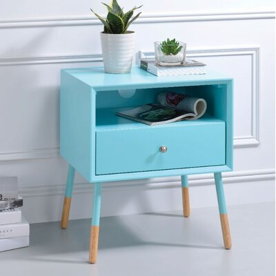 Ferris End Table Table Top Color: Blue