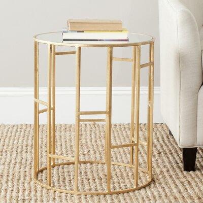 Nasim End Table Color: Gold