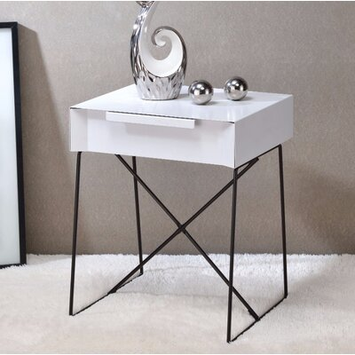 Battiste End Table Table Top Color: White