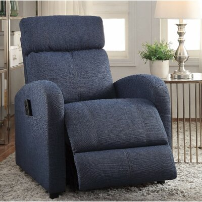 Wolford Power Lift Assist Recliner Upholstery Color: Blue
