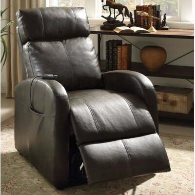 Wolfson Power Lift Assist Recliner Upholstery Color: Gray