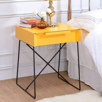 Battiste End Table Table Top Color: Yellow