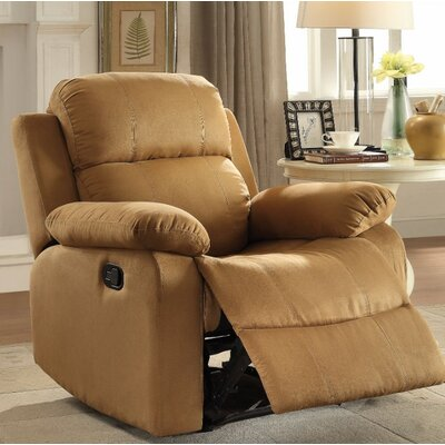Forster Manual Gilder Recliner Upholstery Color: Light Brown