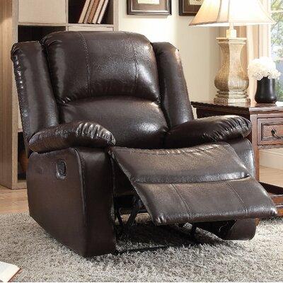 Forster Manual Gilder Recliner Upholstery Color: Dark Brown