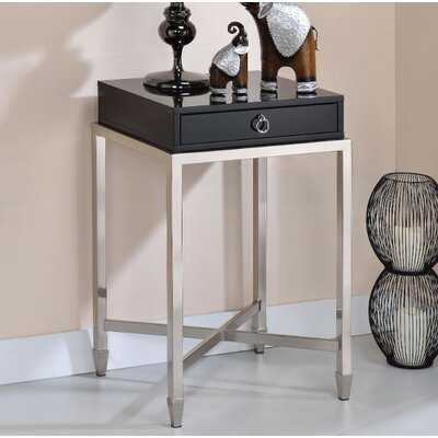 Wilkinson End Table Table Top Color: Black