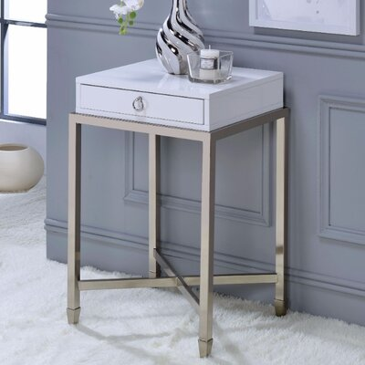 Wilkinson End Table Table Top Color: White