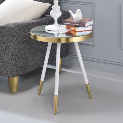 Brockton Mirror Antique Round End Table Table base color: Smoky