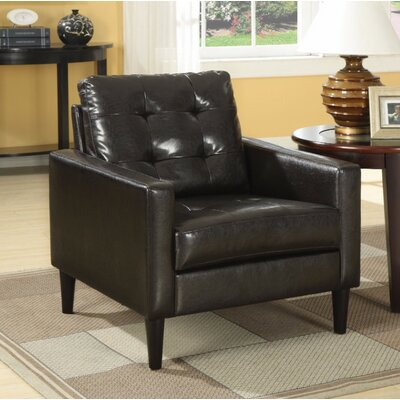 Day Accent Club Armchair Upholstery Color: Brown