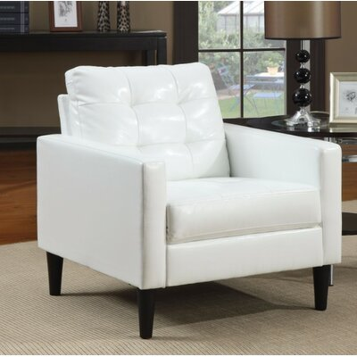 Day Accent Club Armchair Upholstery Color: White