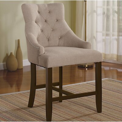 Ba Counter Height Armchair Set Upholstery Color: Cream