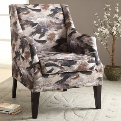 Wojcik Club Chair Upholstery Color: Brown