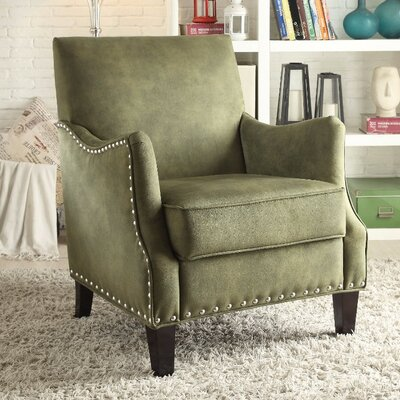 Sykesville Arm Chair Upholstery Color: Green