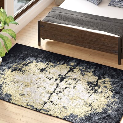 Hyannis Charcoal/Beige Area Rug Rug Size: Rectangle 5 x 8