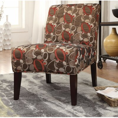 Giangregorio Stylish Fabric Print Slipper Chair