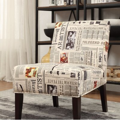 Slocum Newspaper Print Slipper Chair