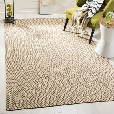Lissie Hand-Woven Cotton Beige/Brown Area Rug Rug Size: Rectangle 5 x 8