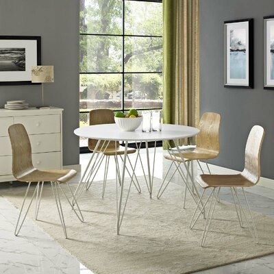 Cayman Circular Dining Table Table Top Color: White